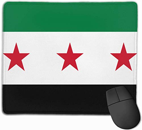 Syrische vlag Gaming Muis Mat Pad Muis Mat Antislip Rubber Base Oppervlak voor Computer PC Toetsenbord en Bureau 9.8