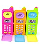 FunBlast Musical Mobile Phone for Kids, Cartoon Mobile with Light & Sound Toys for Babies   Educational Toys for Kids 3+ Years/Boys/Girls-1 Unit (Random Color)