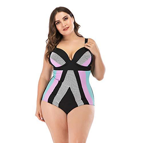 Plus Size Badpakken voor vrouwen Halter badpak met Borst Pad Steel Ondersteuning,C,XL