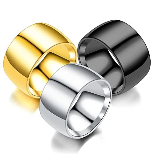 Personalità alla moda 12 millimetri versione larga dell'anello interno ed esterno apertura sfera anello personalizzato uomo dominante tre pezzi anello