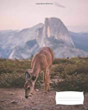 Deer Grazing in Yosemite: Composition Book, 7.5x9.25, 132 Pages (66 Sheets), College Ruled, Deer Grazing with Mountain in Background Journal