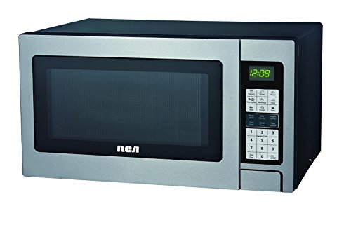 RCA RMW1324 1.3 Cubic Foot Microwave with Grill Feature, Stainless Steel