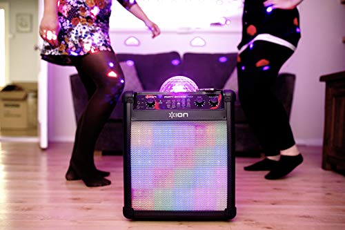 ION Audio Party Rocker Max – 100 W Portable Wireless Bluetooth Speaker & Karaoke Centre with Rechargeable Battery, Party…