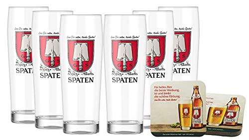 Spaten Premium Bierglas 0,5 Liter [6er Set] Original Spaten Bier Gläser für Gastronomie & Sammler - 50cl Bier Glas - Spülmaschinenfest - NEU
