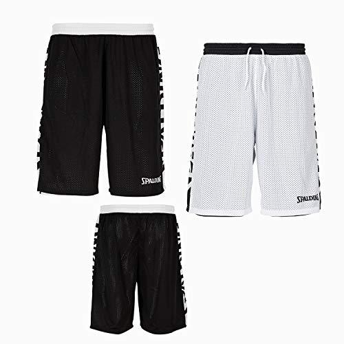 Spalding Unisex-Child 300502501_164 Shorts, Black,White