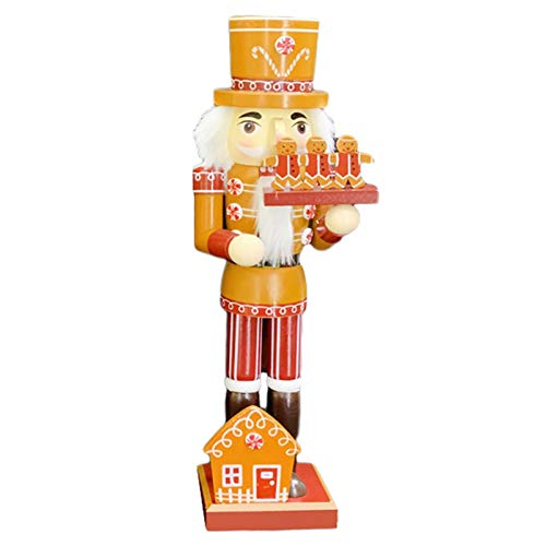 Zhihui 11 Styles Nussknacker Soldat - 36cm Nussknacker Figur Holzornamente für zu Hause - König, Soldat, Koch, Cowboy Nussknacker Weihnachtsfeier Dekoration - Neujahrsgeschenke für Kinder