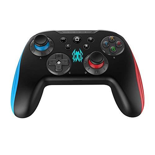 Controller wireless per Nintendo Switch,GEEKLIN Wireless Switch Controller, 3D Joystick Moudles e pulsanti intercambiabili per Bluetooth Gamepad, non compatibile con iOS Blu