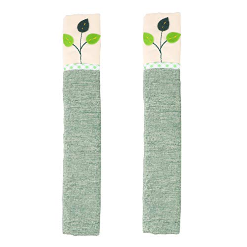 1 Pair Refrigerator Door Handle Covers, Fridge Microwave Dishwasher Door Cloth Protector, Keep Your Kitchen Appliance Clean from Smudges, Fingertips, Food Stains