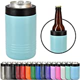 Clear Water Home Goods - 12 oz Stainless Steel Double Wall Vacuum Insulated Can or Bottle Cooler Keeps Beverage Cold for Hours - Powder Coated Teal