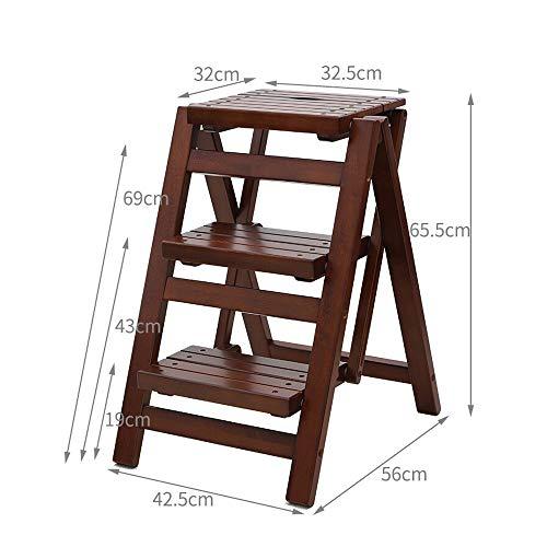 LSX-Step Krukken Kruk Effen Houten Bar Stoel Hoge En Lage Krukken Verander Schoenen Krukje Trappen Kruis Huishoudelijke Vouwen Ladder Mini Dikke Kleine Binnen Anti-slip Ladder Draagbare Stap ladder