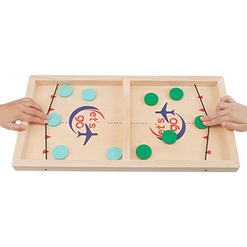 CS COSDDI Brettspiel Hockey, Fast Sling Puck Game, Katapult Brettspiel, Tisch Hockey Brettspiel Katapult Schach, Portable Board Games, Hockey Game für Kinder & Familie (Erwachsene)