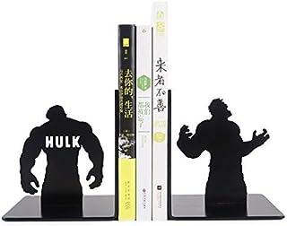 WYYAF Bokstöd bokstöd metallhulk bokstöd superhjälte bokstöd lämpliga för hemmakontor lärande gåvor för bokentusiaster bok...