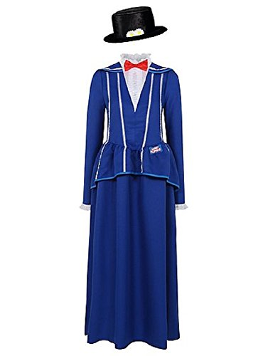 George Womens Mary Poppins Adult Fancy Dress Costume Outfit (8-10)