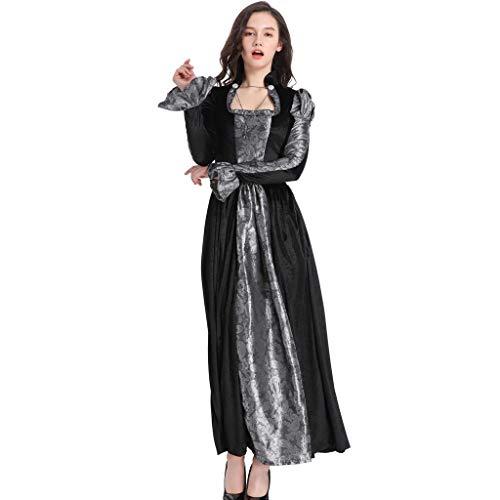 YNIEIAA - Vestido de disfraz para mujer, estilo vintage, estilo de talla grande, para mujer, mujer y nia