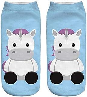 Low Cut Ankle Socks Unicorn Print - Chubby Unicorn baby blue 1 pair