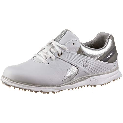 FootJoy Damen Pro/Sl Golfschuhe, Weiß (Weiß/Silber/Grau), 38.5 EU