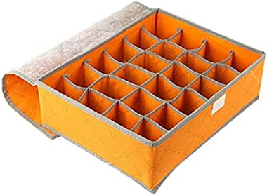 KS 24 Grid Storage organizer Container Drawer Closet Foldable Storage Box,makeup, jewelry, small clothes Storage Drawer Organ