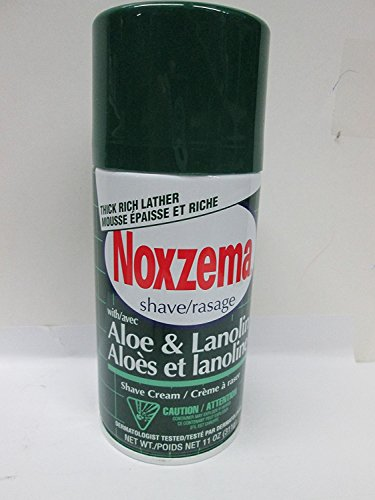 Noxzema Shave Cream Aloe and Lanolin 11 Oz (Pack of 3)