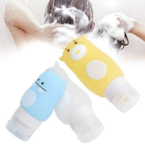 Botella de viaje, botellas recargables Botellas para apretar de animales de dibujos...
