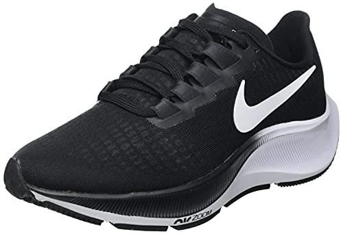 Nike Air Zoom Pegasus 37, Zapatillas para Correr Mujer, Negro/Blanco, 40 EU