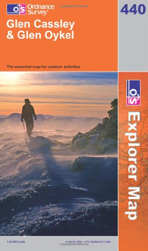 OS Explorer map 440 : Glen Cassley & Glen Oykel