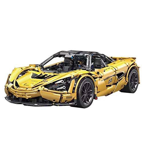 YOU339 Juego de ladrillos para vehículos deportivos 1:8 Dual RC Super Racing, para vehículos deportivos, MOC, para bricolaje, bloques de construcción, pequeñas partículas, decoración