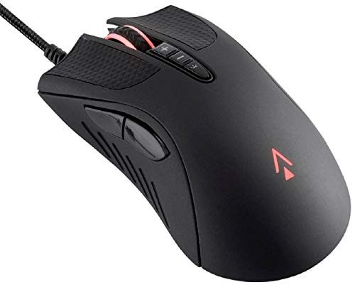 Monoprice Aether Optische Gaming-Maus, 16000 DPI, Light Strike Switches, PWM3389, RGB, verkabelt, 6 DPI Presets