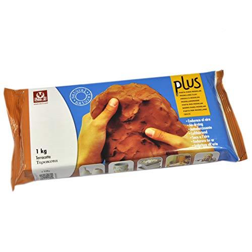 Arcilla natural que endurece al aire PLUS 1 kg Terracotta
