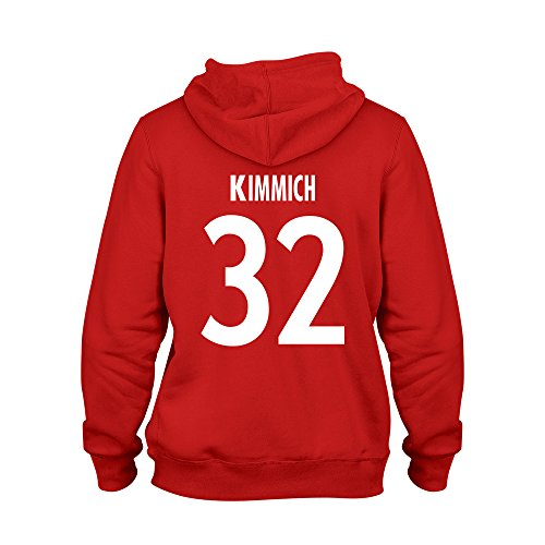 Joshua Kimmich 32 Club Player Style Hoodie Red/White, X-Large