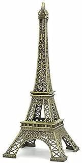 PARIJAT HANDICRAFT Brass Eiffel Tower Statue for Gift Home Decor showpiece Office Decor Desk Decor Statue for Decor (20 cm X 7 cm X 7 cm)