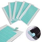 Cinta de extensión de pelo a prueba de agua doble cara cinta super fina profesional azul para la piel trama pelo extensiones adhesivos 60 unidades/lote 5 hojas 0,8 cm x 4 cm