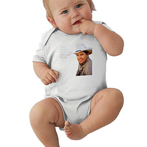 YBRB George Strait Body bébé Manches Courtes Jersey Body Coton T-Shirt 0-24 Mois Body bébé Unisexe