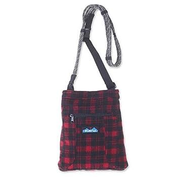 KAVU Keepon Keepin Plaid Semi Padded Sling Lightweight Rope Crossbody Bag - Lumberjack