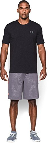 Under Armour Men's Charged Cotton Sportstyle T-Shirt, Black/Steel, Large