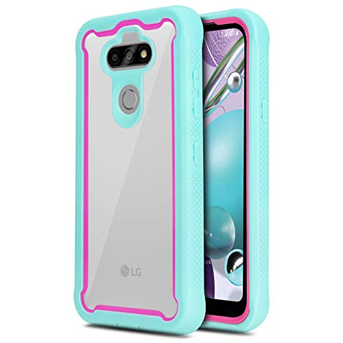 CasemartUSA Phone Case for [LG Tribute Monarch (Boost Mobile)], [Fuze Series][Turquoise] Shockproof Defender Transparent Protective Bumper Cover for LG Tribute Monarch (Boost Mobile)