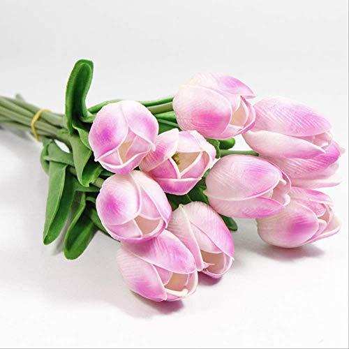 XFLOWR 10 stuks bruiloftsdecoratie PU tulp kunstboeket echt touch bloemen tulp namaak bloemen home party jaar decoratie 5