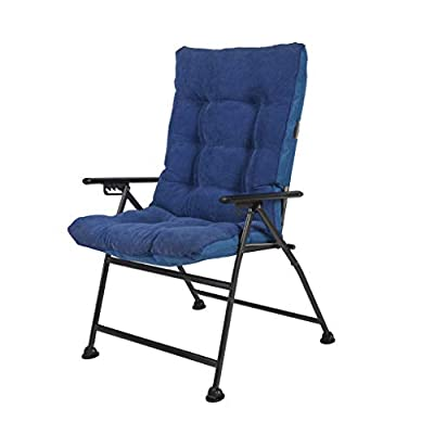 Sunon Folding Camping Chair, Adjustable 5-Position Reclining Mesh Back Lounge Chair with Detachable Cotton Pad for Outdoor,Lawn,Garden and Home, Support 300 lbs (Blue, 30.7x26.7x42.5 inch)