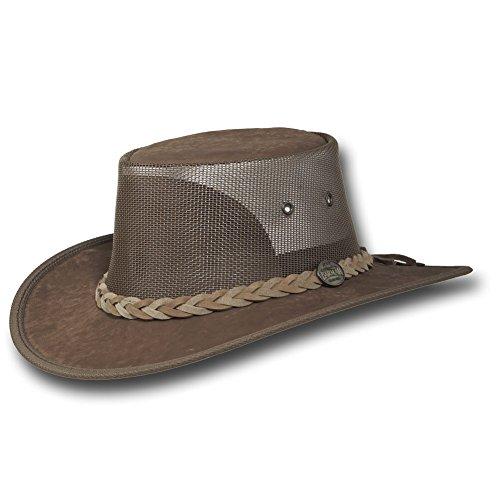 Barmah Hats Kangaroo Cooler Leather Hat 1038HS / 1038BC - Hickorystone - Large