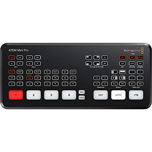 ATEM Mini Pro Blackmagic Design - Switcher HDMI di live streaming (rivenditore autorizzato)