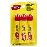 Carmex Classic Lip Balm, Original Squeeze Tube, 3-pack