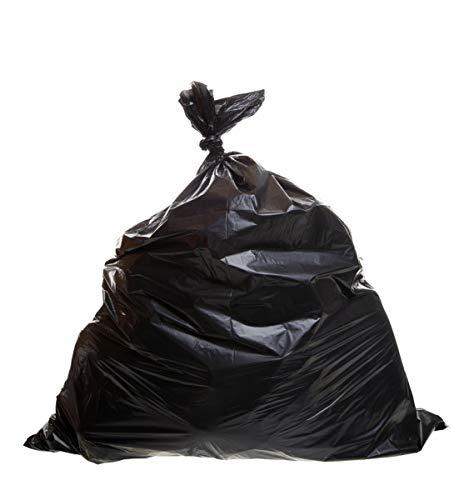 Lot de 10 sacs poubelles 240 litres - Noir - 90 x 140 cm - Sacs poubelle solides 30 µm