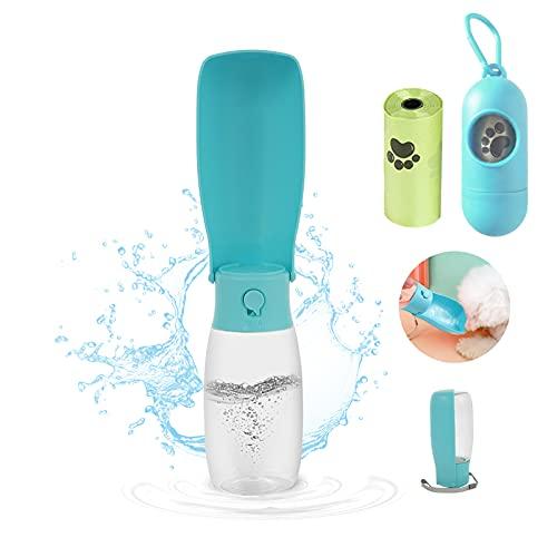HCY&WLD Dog Water Bottle, 10OZ Foldable Leakproof