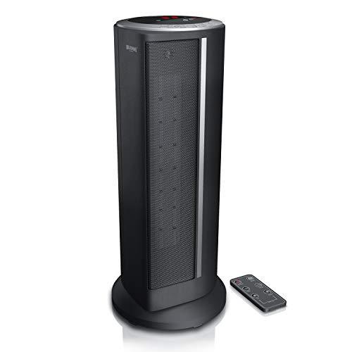 Brandson - Heizlüfter mit Fernbedienung - Keramik-Heizlüfter Badezimmer energiesparend leise - Schnellheizer mit Oszillationsfunktion - 2X Heizstufen - Timer - Heizung Heater