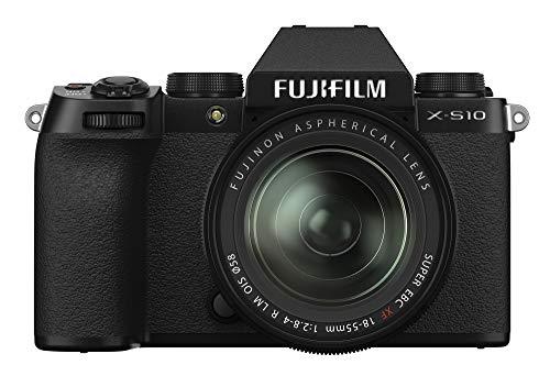 Fujifilm X-S10 Mirrorless Digital Camera XF18-55mm Lens Kit - Black