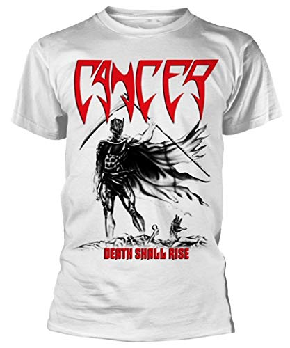 Cancer 'Death Shall Rise' (White) T-Shirt (XX-Large)
