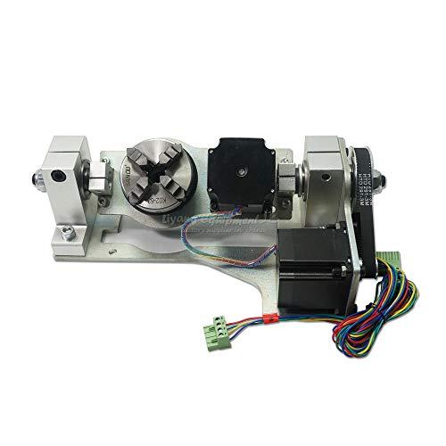 LWQ CNC DIY 5. Achse Rundachse mit Futtertisch für DIY CNC-Fräser 3020 3040 3060 6040 8060 Graviermaschine Teile