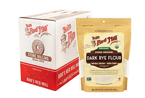 Bob's Red Mill Organic Dark Flour, rye, 20 (Pack of 4)