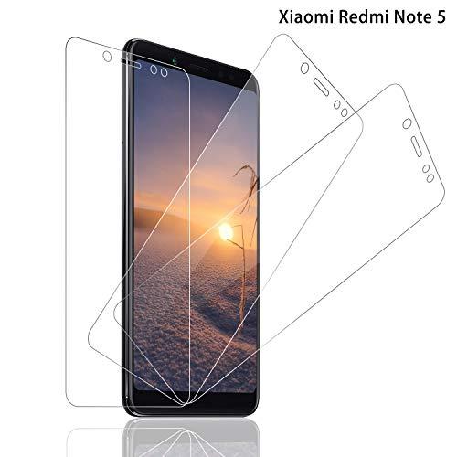 SNUNGPHIR® Cristal Templado Xiaomi Redmi Note 5 [3-Pack] Protector Pantalla Xiaomi Redmi Note 5 Cristal Templado [9H Dureza] [Alta Definición] [Anti-Arañazos] [Anti-Huella Digital]