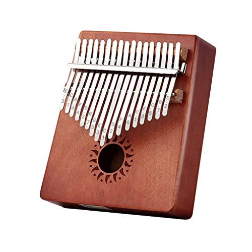 YYL Thumb Piano Kalimba 17 Tasti Regali per Pianoforte con Dita Mbira Portatili in Legno di Mogano con Martello Spartito Musicale Regalo per Bambini Principianti Adulti