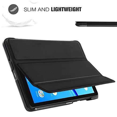 ELTD Hülle für Lenovo Tab M7,Ultra Lightweight Flip mit Ständer und Eingebautem Magnet Hochwertiges PU Leder Schutzhülle für Lenovo Tab M7 2019 7 Zoll Tablet (Schwarz)